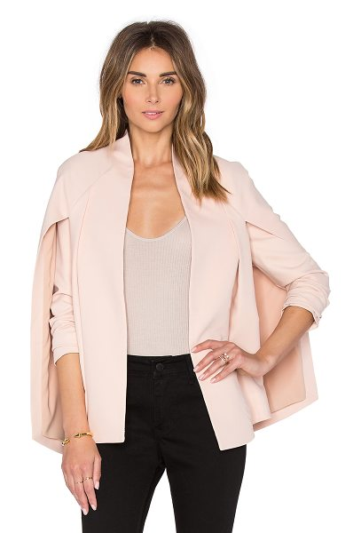 TY-LR The Elena Jacket in blush - Self: 47% lyocell 33% viscose 20% polyLining: 97% poly...