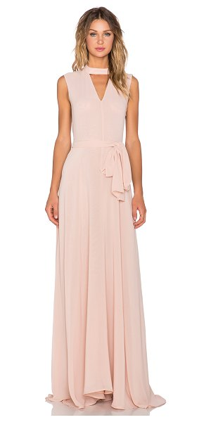 TY-LR The hall dress in blush - Poly blend. Hand wash cold. Fully lined. Neckline...