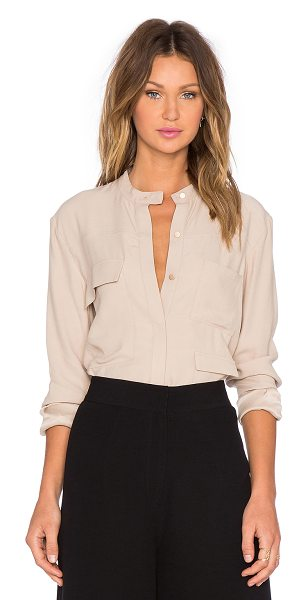 TY-LR The Lucid Shirt in beige - Viscose blend. Dry clean only. Button front closure....
