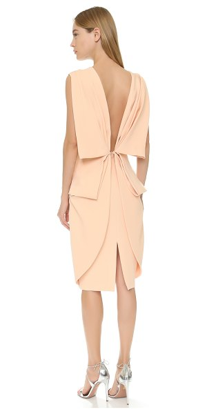 TY-LR Ty-Lr The Memoire Dress in peach - A tailored TY LR sheath dress gains a soft finish from...