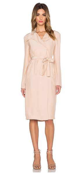 TY-LR The suburban trench dress in blush - Self: 100% polyCombo: 94% poly 6% elastane. Hand wash...