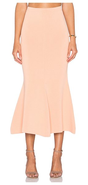 TY-LR The vantage knit skirt in peach - 68% viscose 32% polyamide. Dry clean only. Unlined....