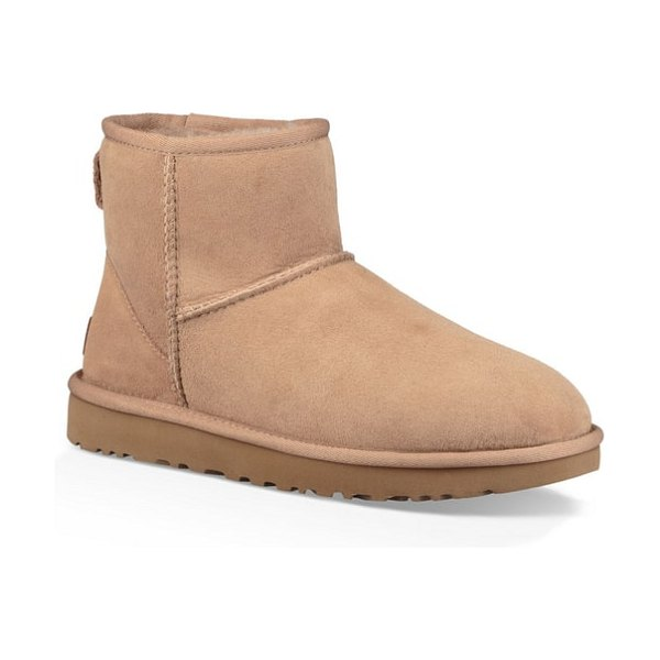 Ugg ugg 'classic mini ii' genuine shearling lined boot in brown - Now pretreated to protect against moisture and staining,...