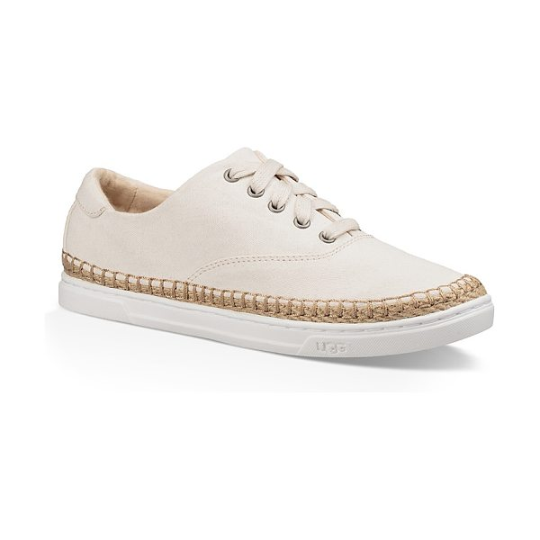 Ugg Eyan Ii Canvas Lace Up Sneakers in natural - Ugg Eyan Ii Canvas Lace Up Sneakers-Shoes