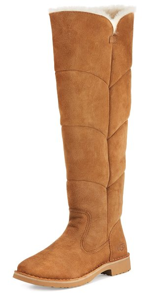 Ugg Sibley Shearling Over-the-Knee Boot in chestnut - UGG boot in twin-face sheepskin and cow suede. Dyed lamb...