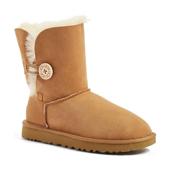 Ugg ugg 'bailey button ii' boot in brown - Now pretreated to repel water and stains, this brand...