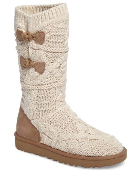 Ugg kalla boot in fawn fabric - Chunky knit construction defines a cozy cold-weather...
