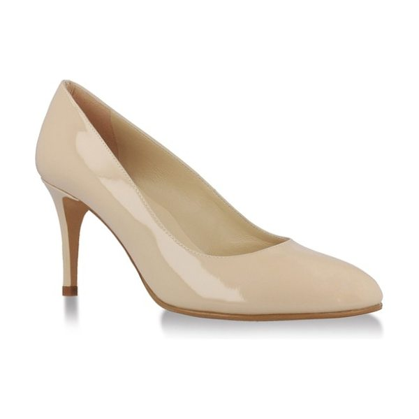 UKIES mariah pump in nude patent leather - A sleek almond toe adds extra poise to a closet-staple...