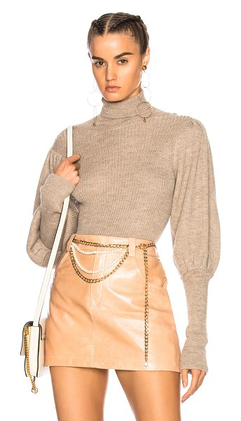 Ulla Johnson Brynn Turtleneck in oatmeal - 80% baby alpaca 20% silk. Made in Peru. Dry clean only....