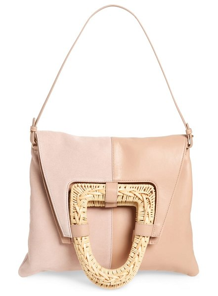 Ulla Johnson caletha leather convertible satchel in pink