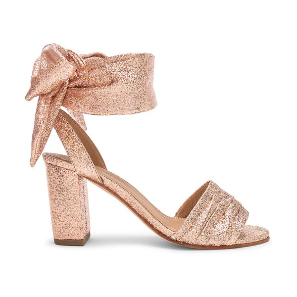 Ulla Johnson Cupid Heel in pink - Metallic lurex textile upper with leather sole.  Made in...
