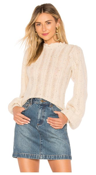 Ulla Johnson Dionne Pullover in cream - Speckled with the perfect amount of color, the...
