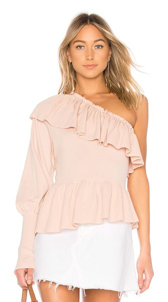 Ulla Johnson Eden One Shoulder Top in rose - 90% cotton 10% cashmere. Dry clean only. One shoulder...