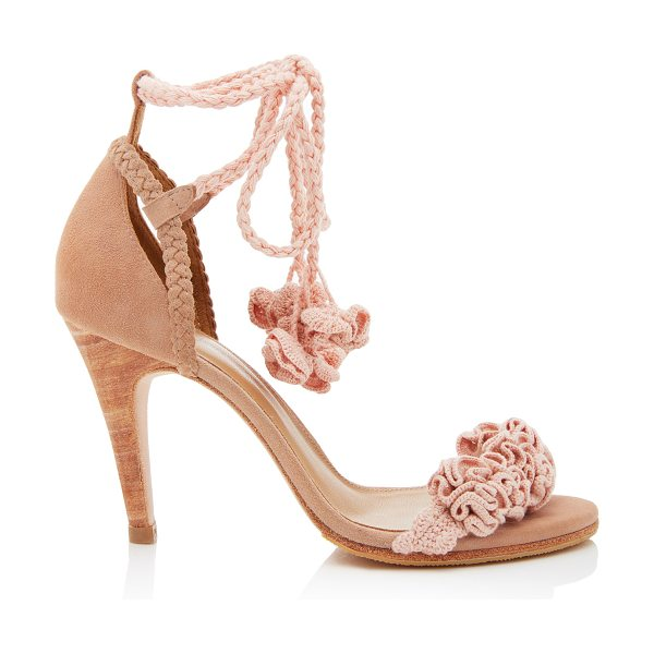 ULLA JOHNSON Elodie Heel in pink - This *Ulla Johnson* sandal is rendered in suede and...