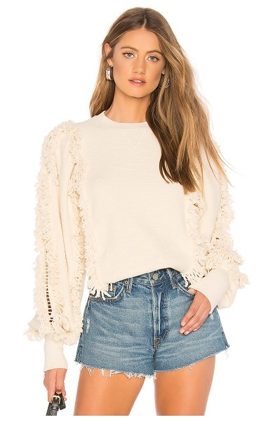 ULLA JOHNSON Hali Pullover in cream - There's something regal about the Hali Pullover by Ulla...