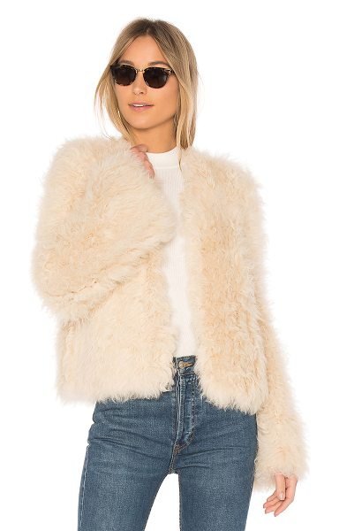 Ulla Johnson Harper Lamb Fur Coat in cream - Spun from plush lamb fur, Ulla Johnson?s Harper Coat is...