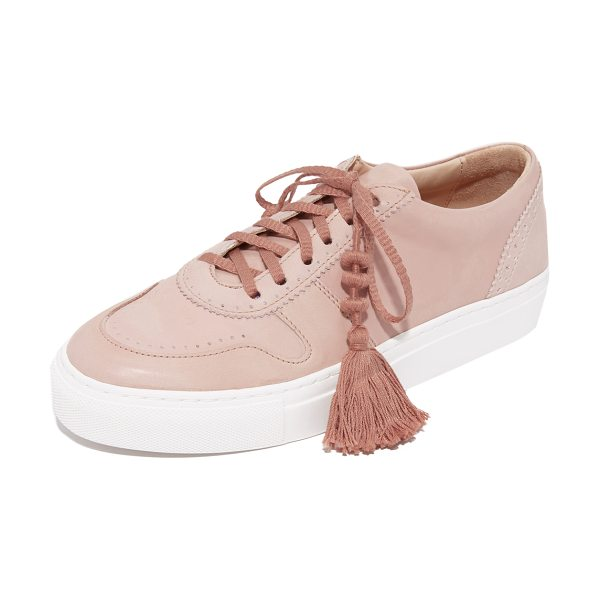 Ulla Johnson kai sneakers in rose - These supple Ulla Johnson sneakers gain an elevated look...