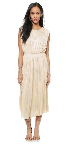 Ulla Johnson Lily dress in sand - Allover pleats create gentle dimension on this...