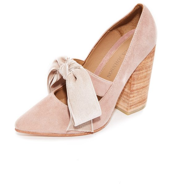 Ulla Johnson louis heels in rose - Pointed-toe Ulla Johnson heels in pretty, pastel suede....