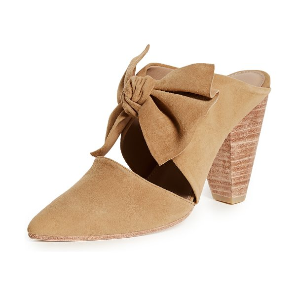 Ulla Johnson lucia heels in honey - Leather: Goatskin Mules Chunky heel Pointed toe Leather...
