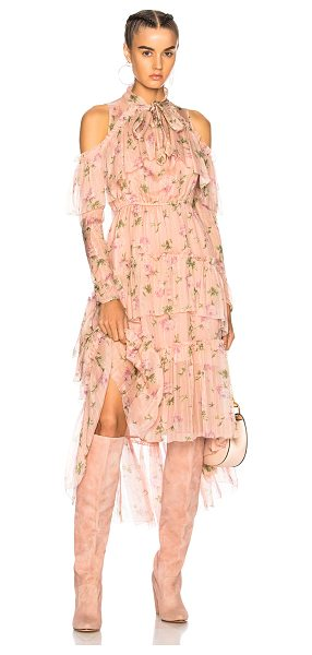 Ulla Johnson Marion Dress in floral,pink - Self: 100% silk - Lining: 100% poly.  Made in India. ...