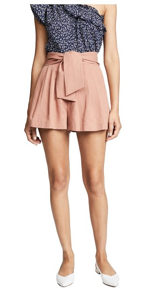 Ulla Johnson martim shorts in clay - Fabric: Soft twill Pleated Trouser styling Shorts cut...