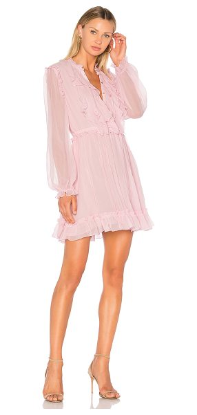 Ulla Johnson Meret Dress in pink - Swingy silk chiffon emits airy movement into the Meret...