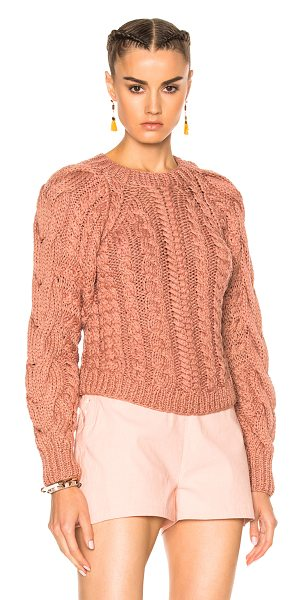 Ulla Johnson Niva Sweater in rosewood - 100% pima cotton. Made in Peru. Dry clean only. Knit...