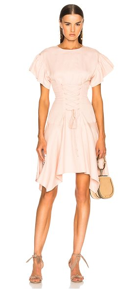 Ulla Johnson Otille Dress in pink - 46% tencel 30% linen 14% cotton.  Made in china.  Dry...