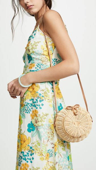 Ulla Johnson pomme bag in natural - Fabric: Rattan Cowhide trim Loop closure at front...