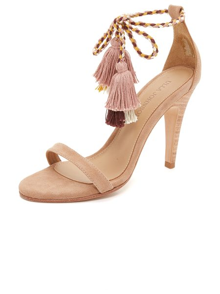 Ulla Johnson Reina sandals in taupe - Colorblock tassels finish the braided ties on these...