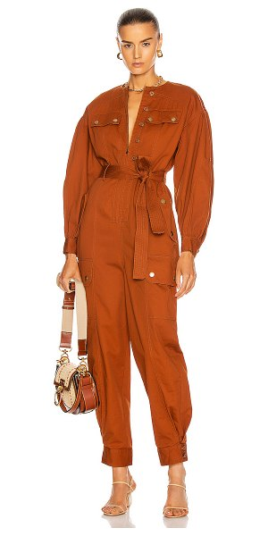 Ulla Johnson stearling jumpsuit in sienna