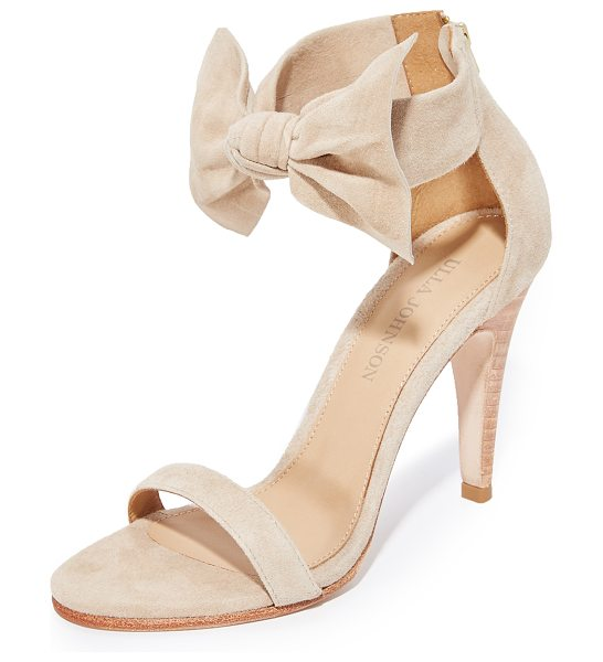 Ulla Johnson thecia heels in taupe - Open-toe Ulla Johnson heels with a charming bow at the...