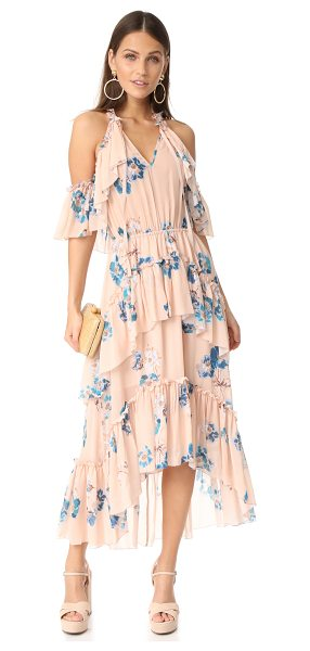 Ulla Johnson valentine dress in nude - A soft floral print complements the effortless, feminine...