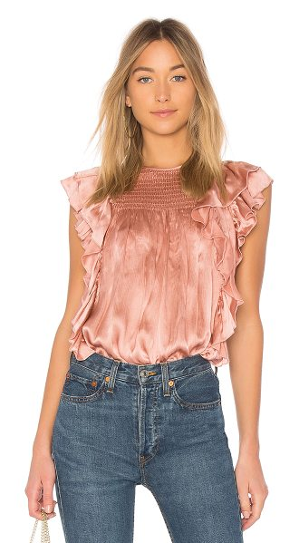 Ulla Johnson Winnie Top in pink - An elegant evening choice, we love how the silky smooth...