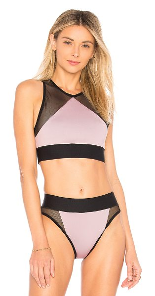 Ultracor Adrift Bikini Top in pink - 43% poly 43% nylon 14% lycra. Stretch fit. Contrast mesh...