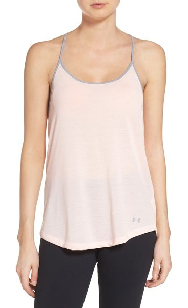 Under Armour threadborne tank in ballet pink - A breathable performance knit, swingy cut and delicate...