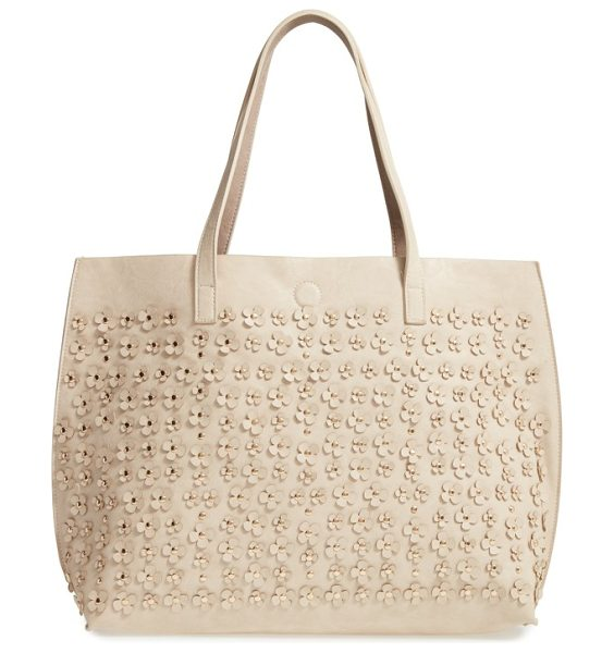 Under One Sky reversible faux leather tote in bone/ taupe - Mix up your around-town style with a reversible...