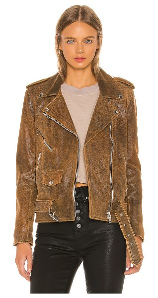 Understated Leather Ultimate lightweight easy rider jacket in distressed brown