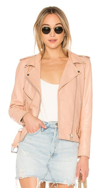 2960cff2e5 Understated Leather Ultimate x REVOLVE Lightweight Easy Rider Jacket in  blush - Genuine leather. Professional