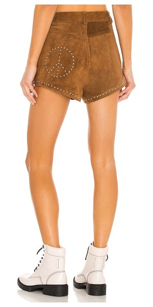 Understated Leather Ultimate x revolve peace shorts in cognac