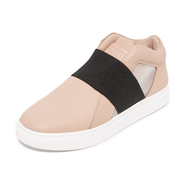 United Nude mesh sneakers in nude - Sturdy leather United Nude sneakers styled with sheer...