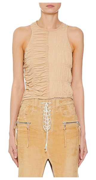 Unravel Ruched Racerback Tank in nude