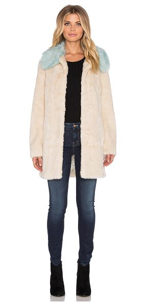 Unreal Fur Candy blossom faux fur coat in cream - Self: 100% modacrylicLining: 100% poly. Dry clean only....