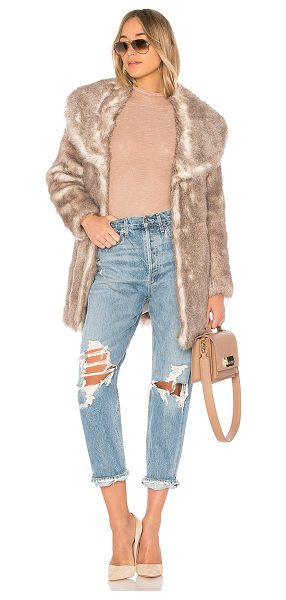 Unreal Fur Elixir Coat in neutral - Self: 100% modacrylicLining: 100% poly. Dry clean only....