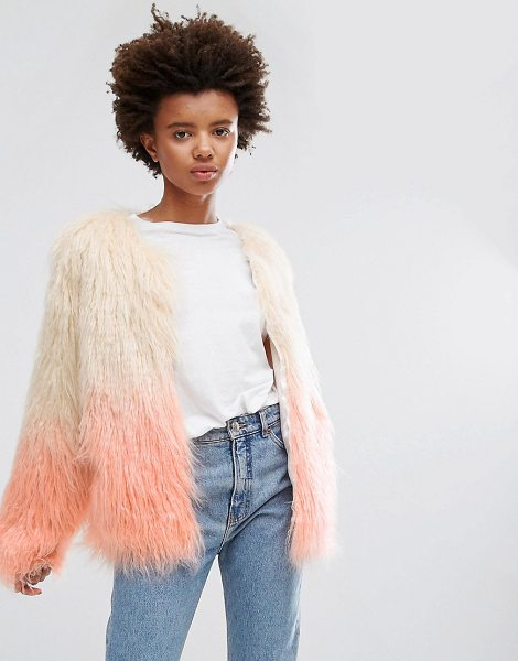 "Unreal Fur Dream Jacket in pink - """"Jacket by Unreal Fur, Textured faux fur, Lined design,..."