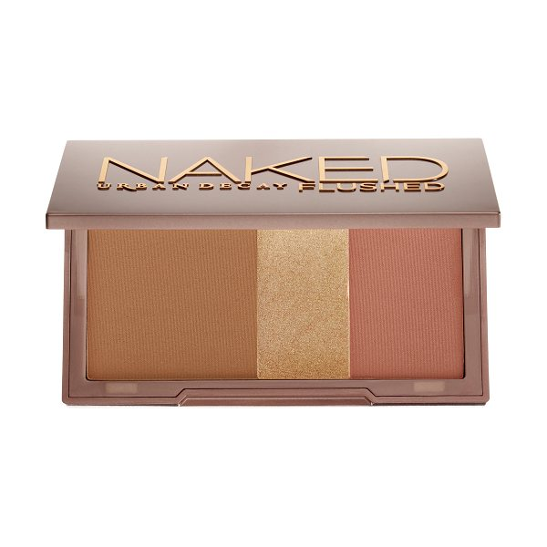 URBAN DECAY Naked Flushed Palette Strip - A silky bronzer, highlighter, and blush in a sleek,...