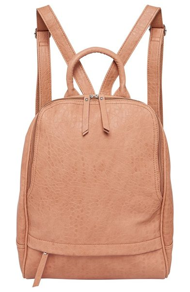 Urban Originals my way vegan leather backpack in blush - An exterior zip pocket makes a great place to stash your...