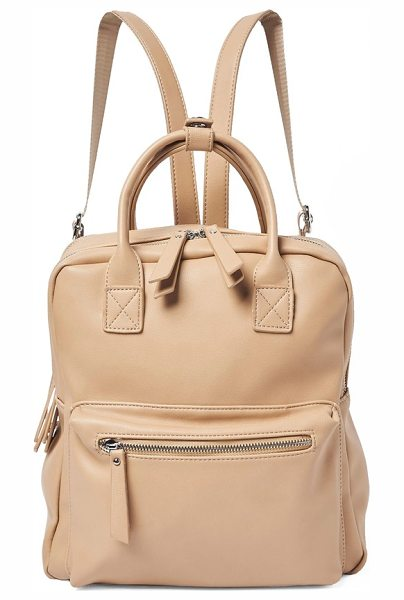 Urban Originals over exposure vegan leather backpack in nude