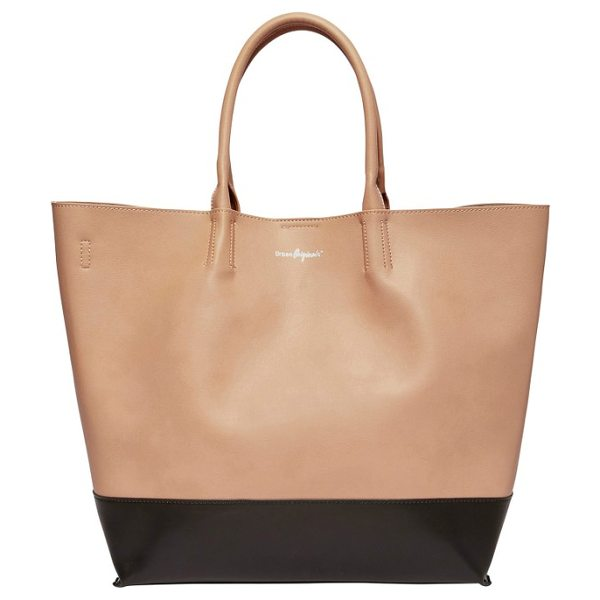 Urban Originals revenge colorblock vegan leather tote in pink/ black - Tonal color blocking and a clean, uncomplicated design...